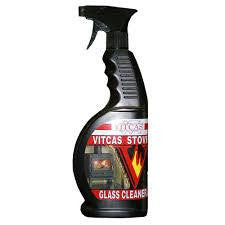 Wood Burning Stove's glass. Glass Cleaner