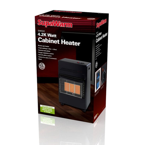 Superwarm  portable gas heater with 15kg gas bottle - Flying Dutchman Stores