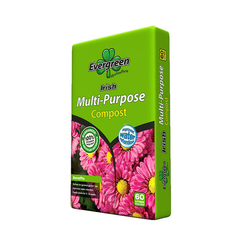 Evergreen Irish Multi-Purpose Composts 60LTR PER BAG