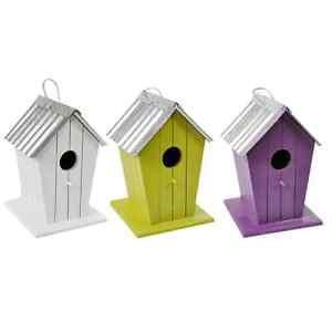 WOODEN BIRDS NESTING BOX SMALL BEACH HUT COLOURED - Flying Dutchman Stores