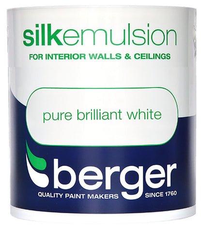BERGER MATT / SILK 1L PURE BRILLIANT WHITE EMULSION PAINT - Flying Dutchman Stores