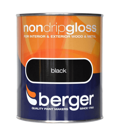 Berger Non-Drip Gloss Black 2.5 L - Flying Dutchman Stores