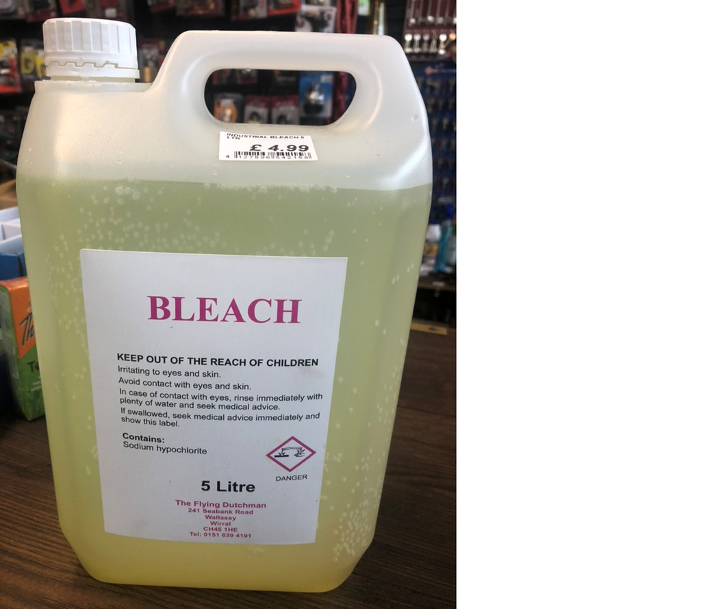 INDUSTRIAL BLEACH 5 LTR - Flying Dutchman Stores