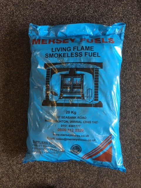 1 Bag Of Mersey Fuels Smokeless Coal  Ovoids (Excell) - Flying Dutchman Stores