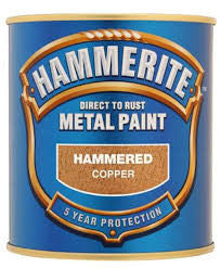 Hammerite Direct To Rust Metal Paint Hammered Copper 1L - Flying Dutchman Stores