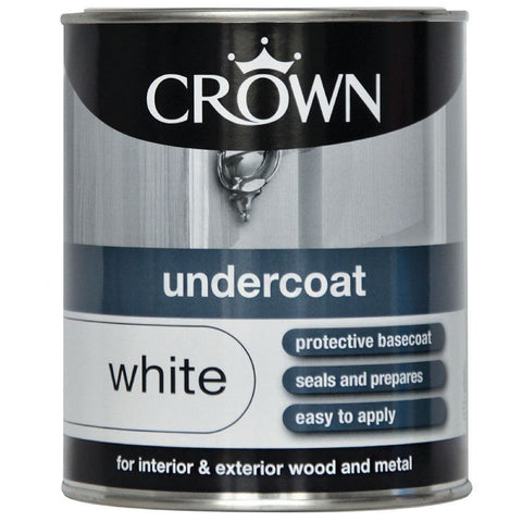 Crown Undercoat 750ml WHITE - Flying Dutchman Stores
