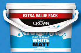 Crown Standard Matt Emulsion 7.5l Pure Brilliant White - Flying Dutchman Stores
