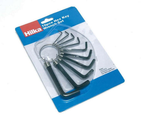 Hilka 21151002 Hex Key Set Metric 10pc - Flying Dutchman Stores