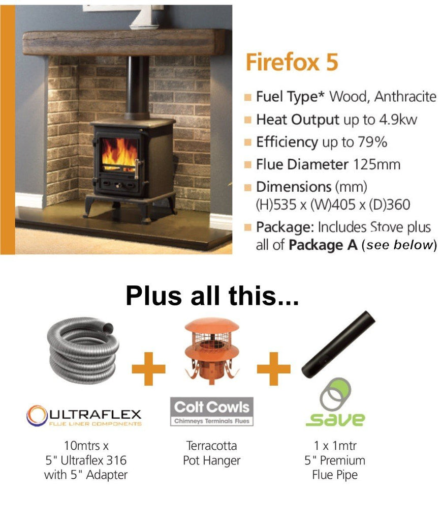 Firefox 5 Stove Package - Flying Dutchman Stores