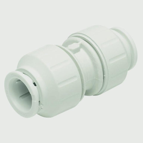 JG Speedfit Equal Straight Connector 15mm EACH- White - Flying Dutchman Stores