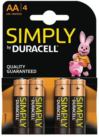 4Pk Of AA Batteries Duracell