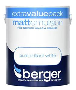 Berger Vinyl Matt 3L Pure Brilliant White - Flying Dutchman Stores