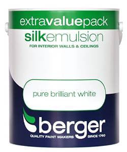 Berger Vinyl Silk 3L Pure Brilliant White - Flying Dutchman Stores