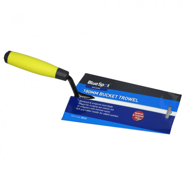 "BlueSpot 180mm (7"") Soft Grip Bucket Trowel - Flying Dutchman Stores"