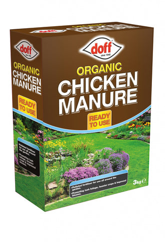 Doff Organic Chicken Manure 3kg - Flying Dutchman Stores