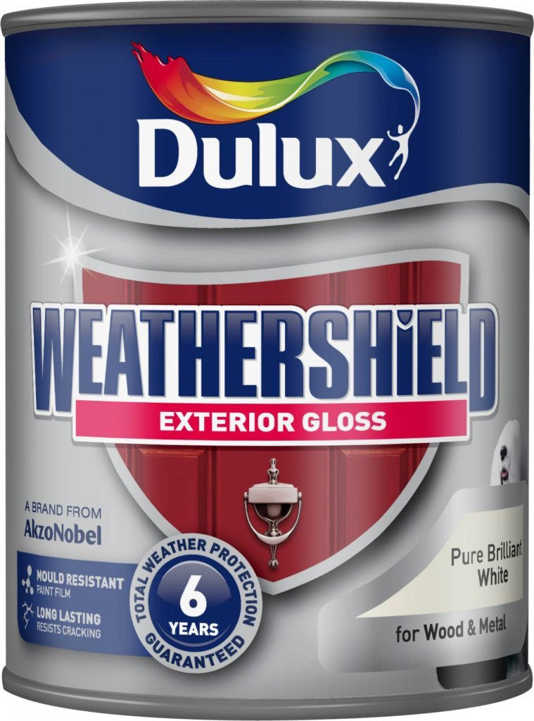 Dulux Weathershield Exterior Gloss White 750ml - Flying Dutchman Stores