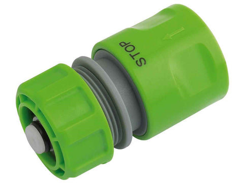 Draper  1/2in BSP Hose Connector with Water Stop Feature - Flying Dutchman Stores