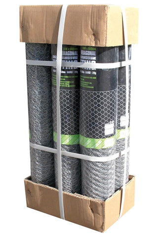 single galvanised 10mx900mm roll(Chicken wire) - Flying Dutchman Stores