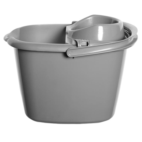 Plastic Mop Bucket (SILVER) - Flying Dutchman Stores