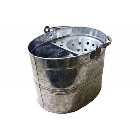 Galvanised Oval Mop Bucket - Flying Dutchman Stores