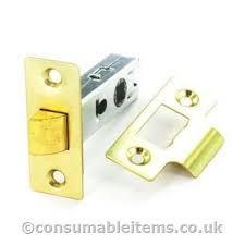 Securit Mortice Latch Door Bolt Through 63mm Brass Plated - Flying Dutchman Stores