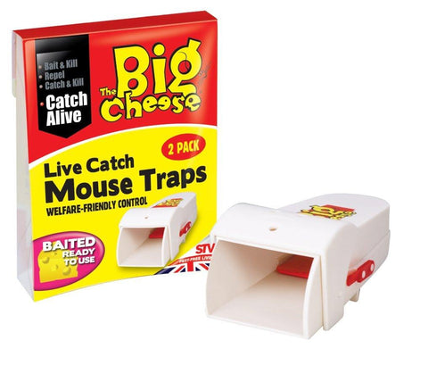 The Big Cheese Live Catch Ready To Use Mouse Traps - Twinpack - Flying Dutchman Stores