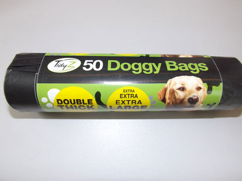 Tidyz Double Thick Doggy Bags Roll of 50 - Flying Dutchman Stores