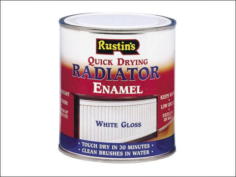 Rustins Quick Dry Radiator Enamel Gloss White 250 ml - Flying Dutchman Stores