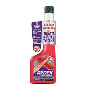 REDEX LEAD REPLACEMENT SUBSTITUTE FUEL ADDITIVE TREATMENT UNLEADED PETROL 250ml - Flying Dutchman Stores