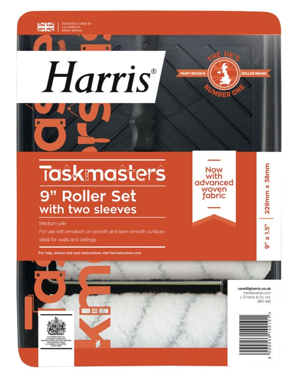 "Harris Taskmasters Roller Set with 2 Sleeves 9"" - Flying Dutchman Stores"