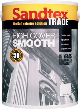 Sandtex High Cover 5L Masonry Paint - Magnolia - Flying Dutchman Stores