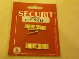 Securit S2692 Brass Turnbutton 35mm Pack Of 2 - Flying Dutchman Stores