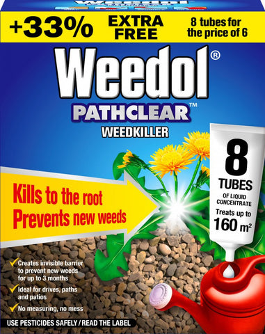 Pathclear Weedkiller 6 Tubes Plus 2 Free - Flying Dutchman Stores