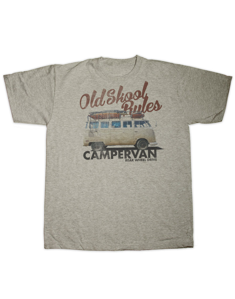 Old Skool Rules Camper Van T Shirt