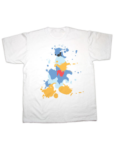 Donald Duck Splatter Print T Shirt