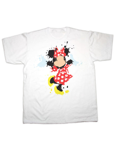 Minnie Mouse Splatter Print T Shirt