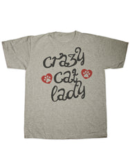 Crazy Cat Lady Print T Shirt