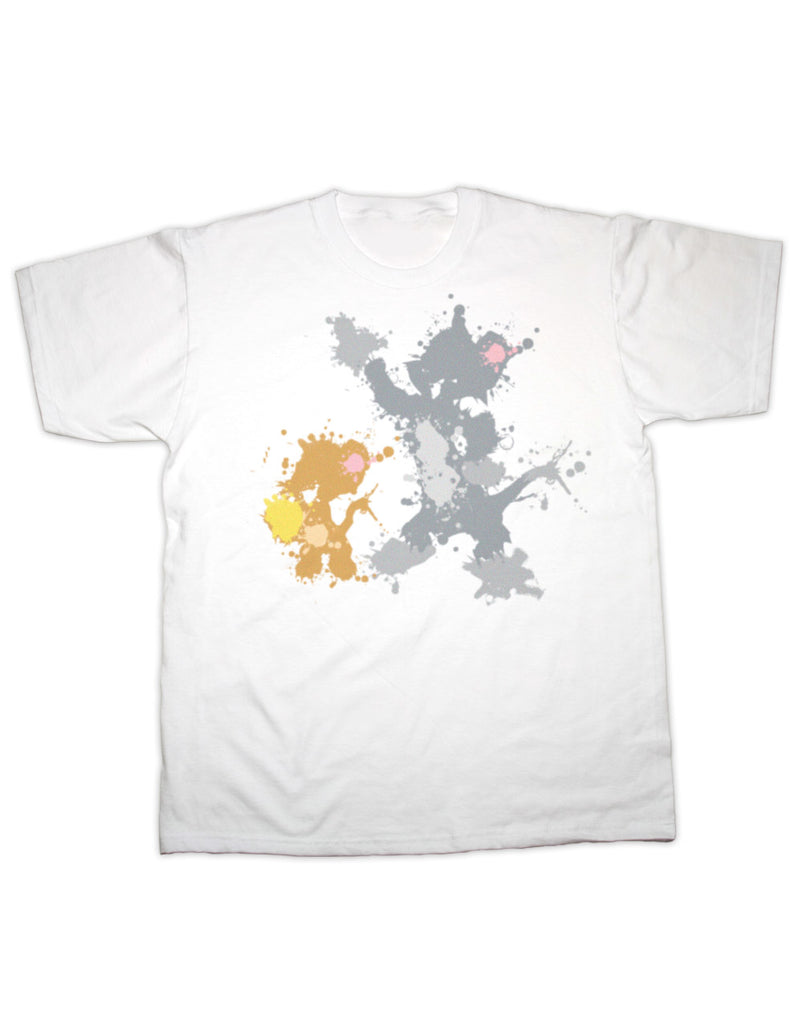Tom & Jerry Splatter Print T Shirt