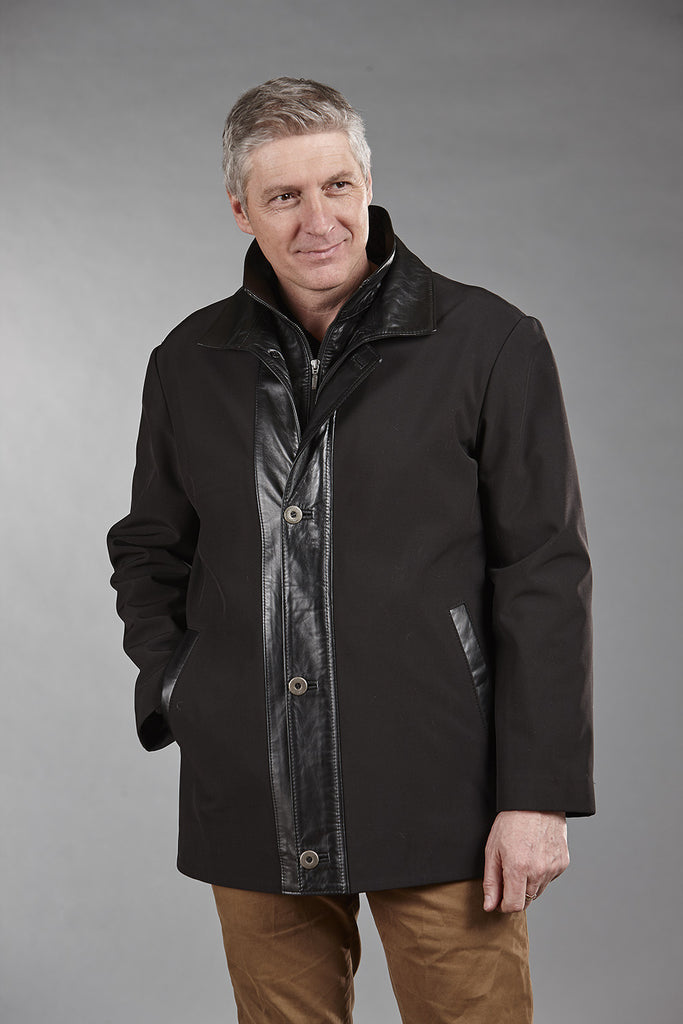 4760 Black ClimaFlo Softshell with Black Lambskin Trims
