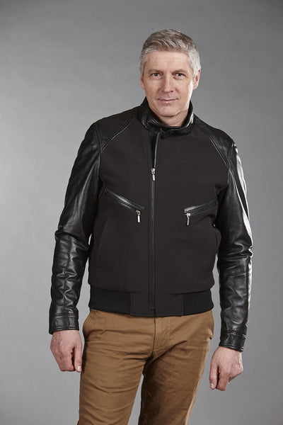 4856 Black ClimaFlo Softshell with Black Lambskin Trims