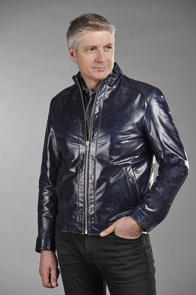 4864 Navy Glazed Lambskin
