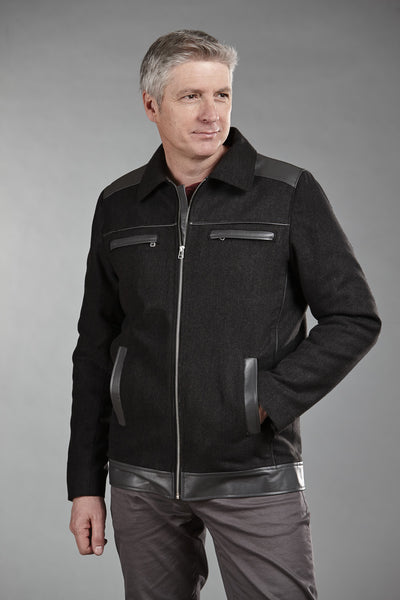4869 Black ClimaFlo Softshell with Black Lambskin Trims