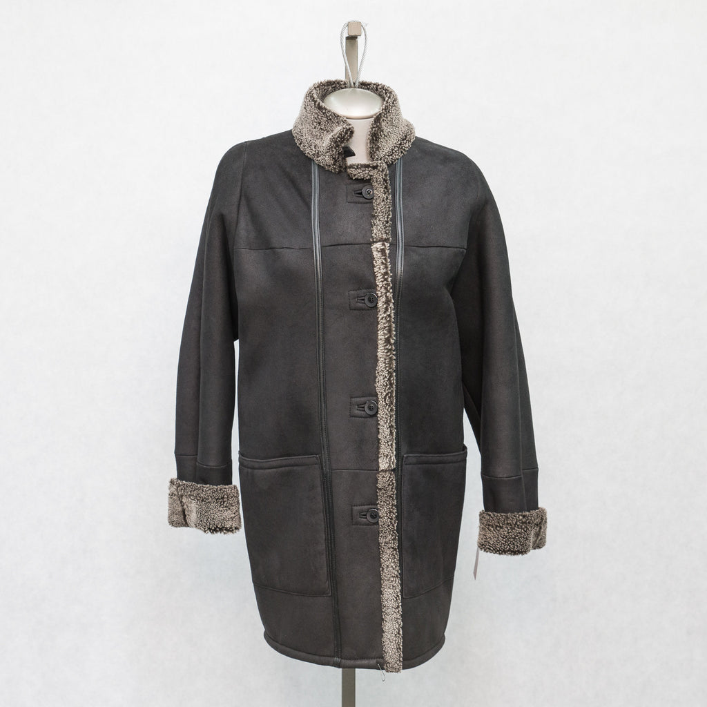 5949 Black Snowtop Shearling - Size 10