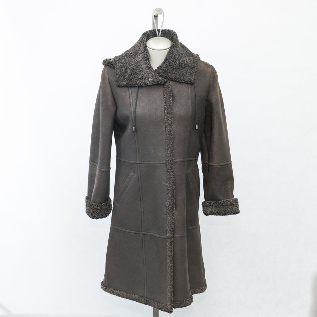 5957 BRown Snowtop Sheepskin - Size 8