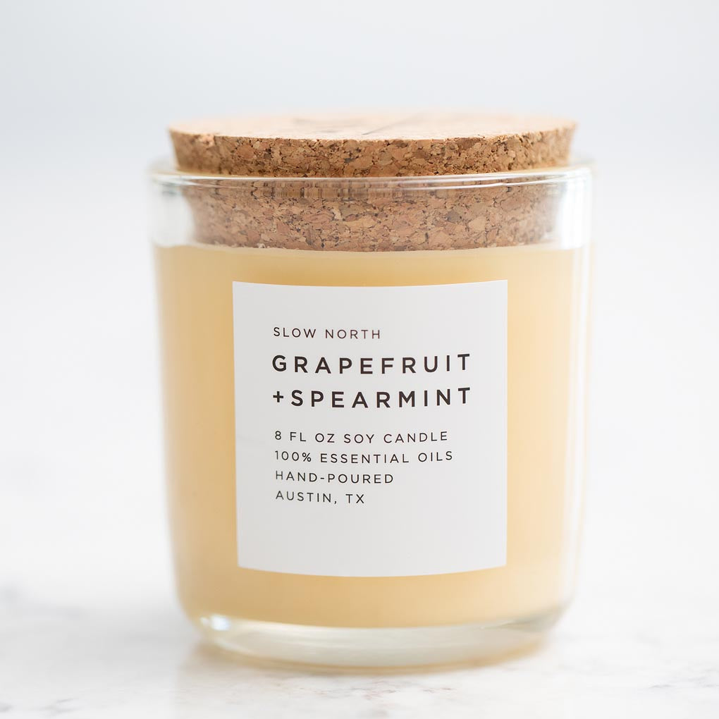 Grapefruit & Spearmint Essential Oil Soy Candle