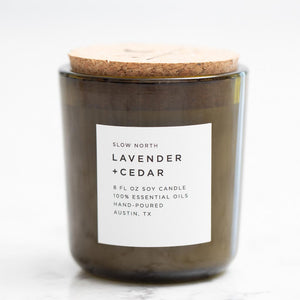 Lavender & Cedar Essential Oil Soy Candle