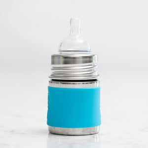 Non-Toxic Baby Bottle (Blue Sleeve) - 5 Oz.