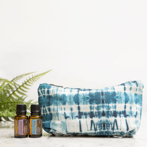 Peace and Love Shibori Essential Oils Travel Bag