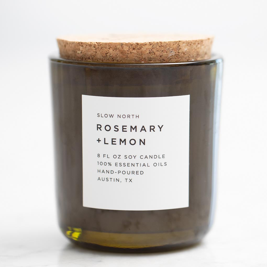 Rosemary & Lemon Essential Oil Soy Candle