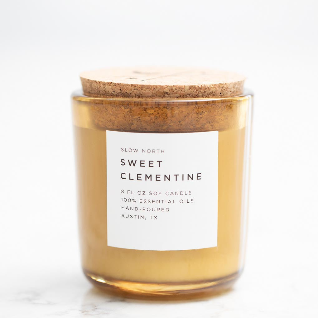 Sweet Clementine Essential Oil Soy Candle